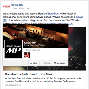 Kawai UK Facebook Post
